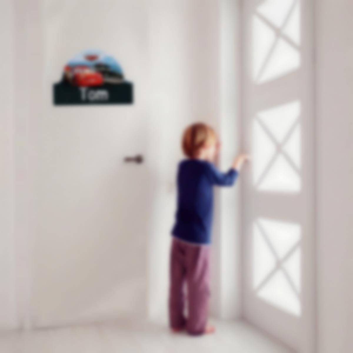 Autocollant panneau de porte chambre enfant - Disney Cars 3