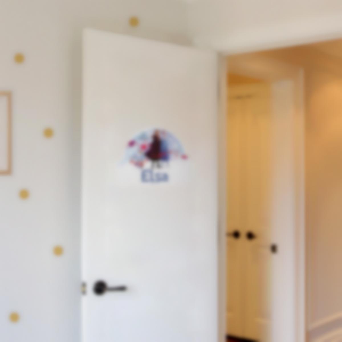 Sticker Autocollant panneau de porte chambre enfant - Reine des Neiges 2
