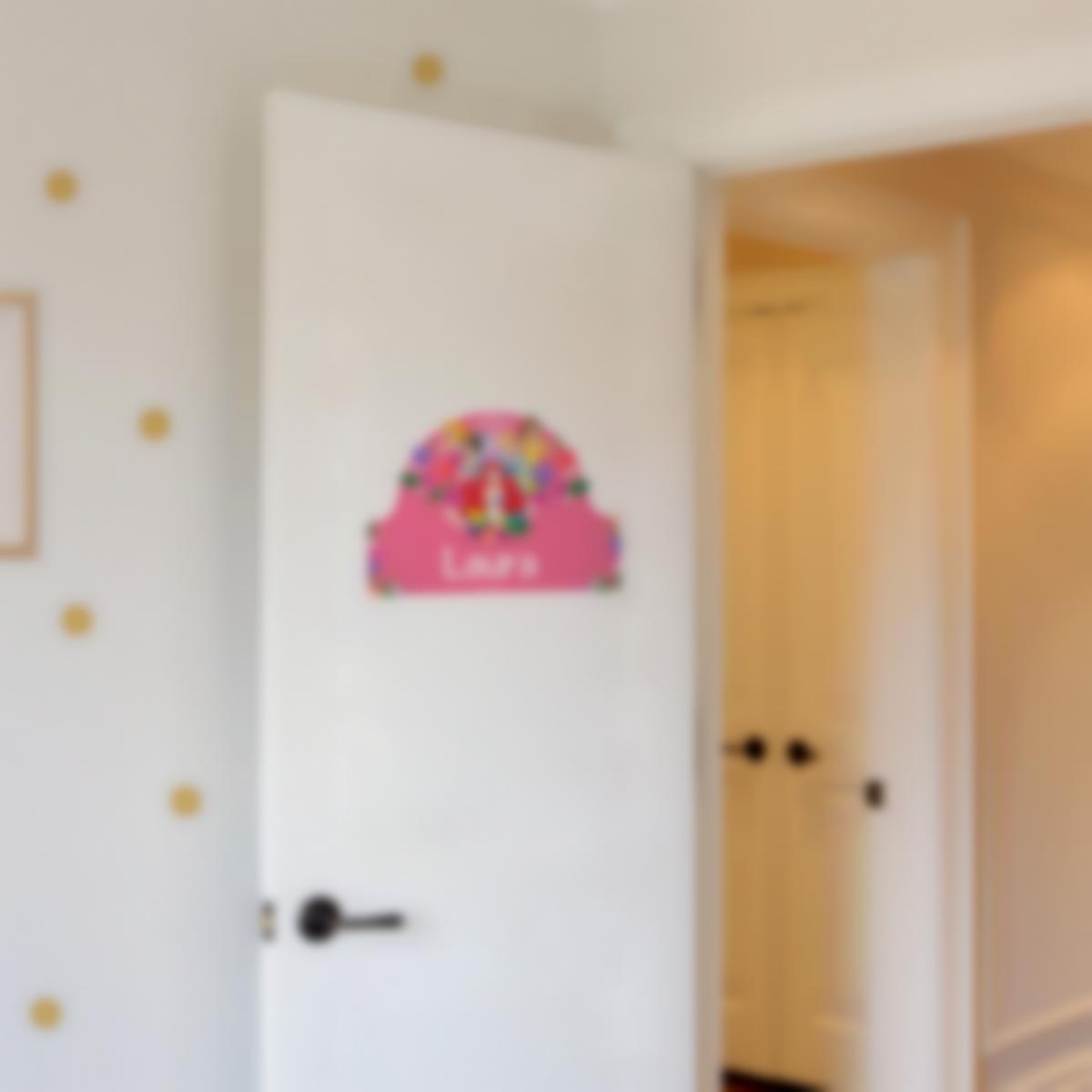 Autocollant panneau de porte chambre enfant - Disney Princesses Fleurs