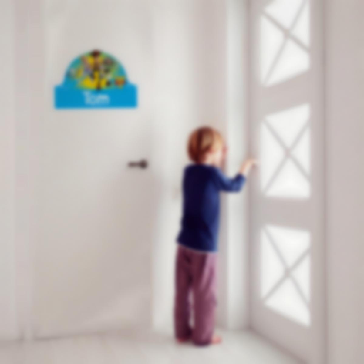 Autocollant panneau de porte chambre enfant - Toy Story 4