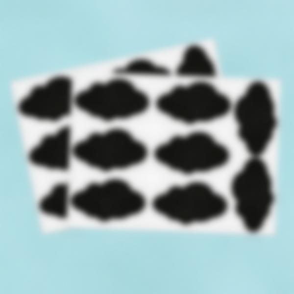 16 petites étiquette Ardoise Autocollante - Nuages