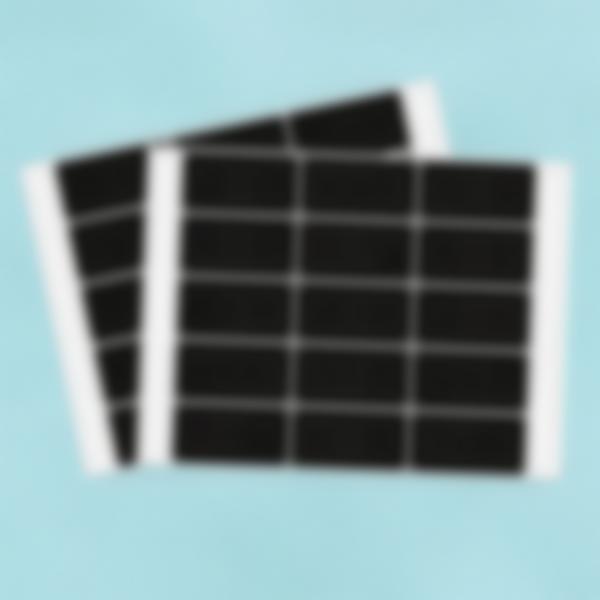 30 petites étiquettes Ardoise Autocollantes - Rectangle