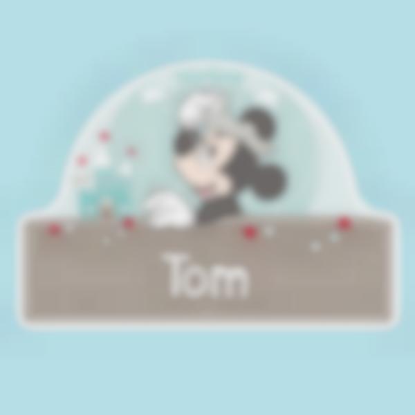 Autocollant panneau de porte chambre enfant - Mickey