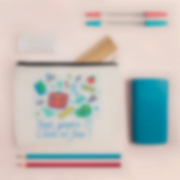 Pochette en tissu personnalisée - Fournitures Scolaires