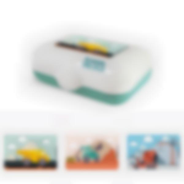 Ludibox - Boîte à goûter verte - Travaux Publics