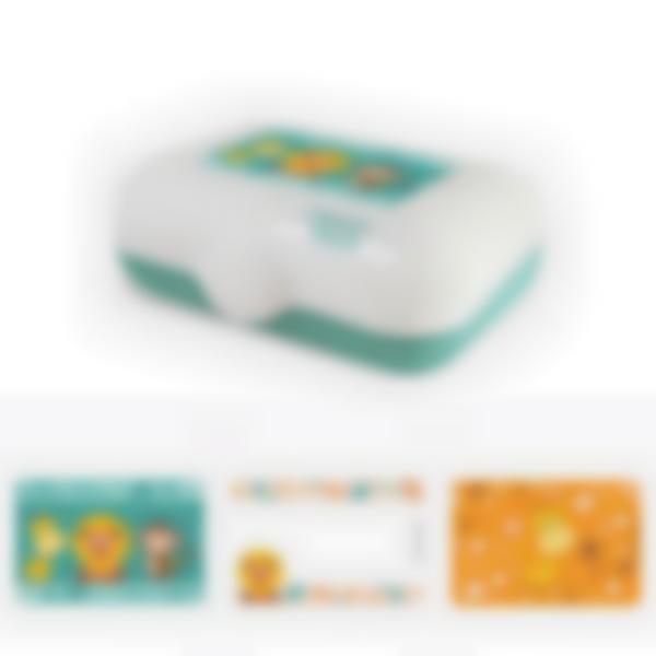 Ludibox - Boîte à goûter verte - Savane
