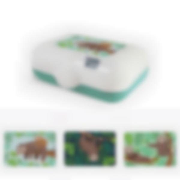 Ludibox - Boîte à goûter verte - Paresseux