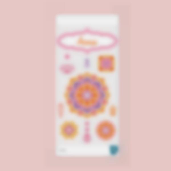 Etiquettes pour gourde - Mandala