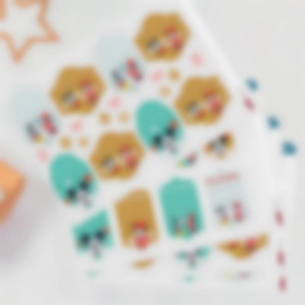 Étiquettes pour marquer les cadeaux de Noël - Mickey et Minnie