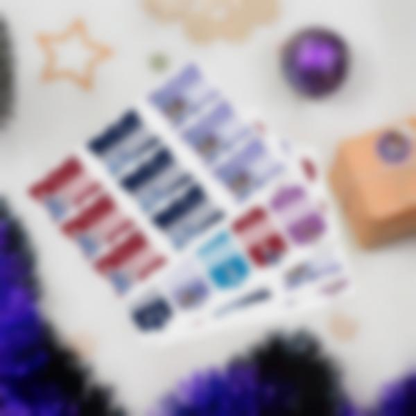 Etiquettes cadeaux de Noël - La Reine des Neiges: Joyeuses fêtes avec Olaf