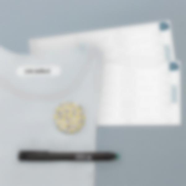 Étiquettes Vierges Thermocollantes pour vêtements