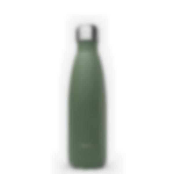 Gourde bouteille isotherme - Granite Kaki - 500ml - Qwetch