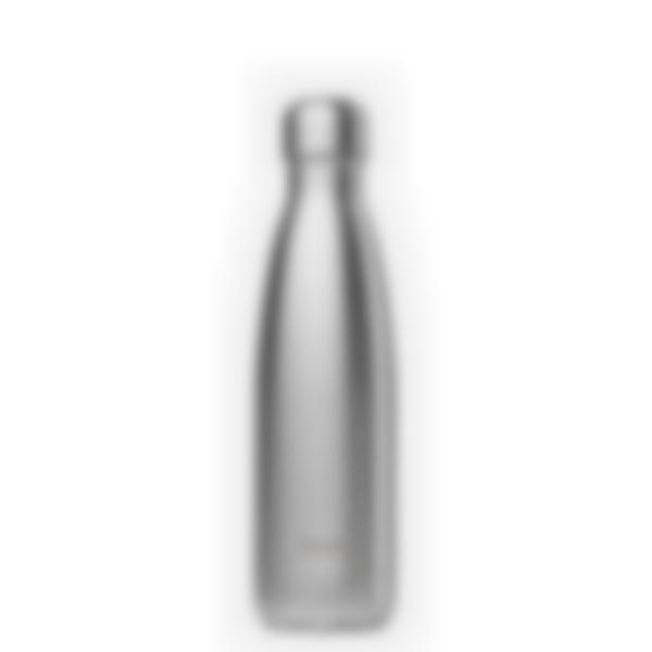 Gourde bouteille isotherme - Inox Brossé - 500ml - Qwetch