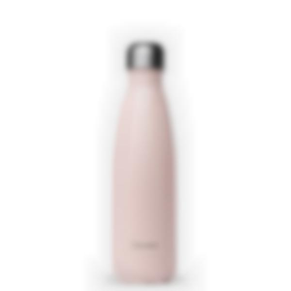 Gourde bouteille isotherme - Pastel Rose - 500ml - Qwetch