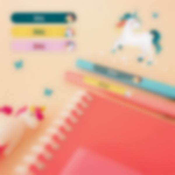 Mini Étiquettes Autocollantes pour stylos - Un seul nom