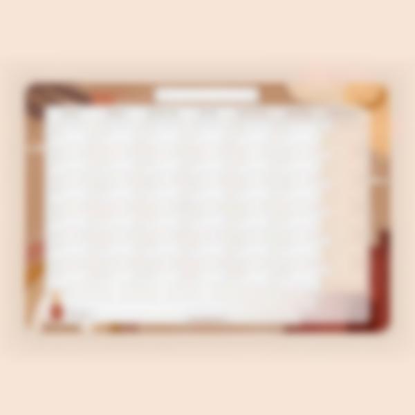 Planning Mensuel Effaçable - Terracotta