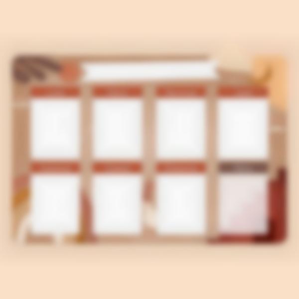 Planning hebdomadaire magnétique - Terracotta