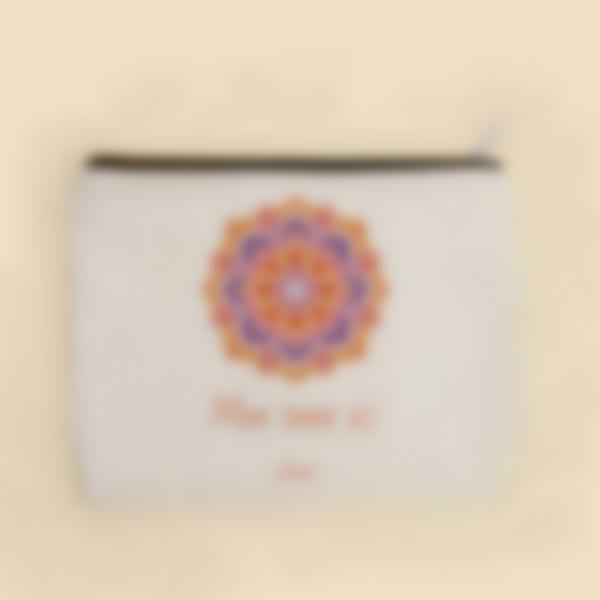 Pochette en tissu personnalisée - Mandala