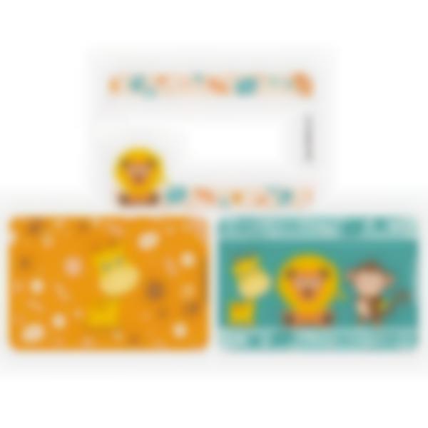 3 cartes magnétiques pour Ludibox - boîte à goûter – Jungle