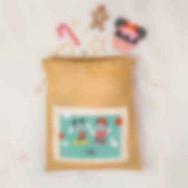 La hotte du Père Noël personnalisée - Mickey et Minnie
