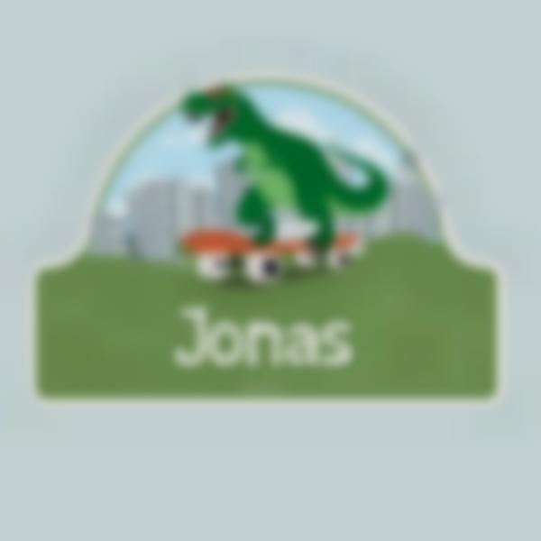 Autocollant panneau de porte chambre enfant - Dinosaure