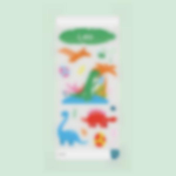 Etiquettes pour gourde - Funky Dino