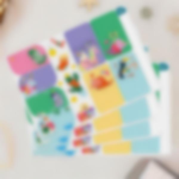 Étiquettes pour marquer les cadeaux de Noël - Noël Dinguo Dino Licorne