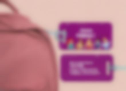 Une étiquette de bagage Princesses pour identifier sacs et valises