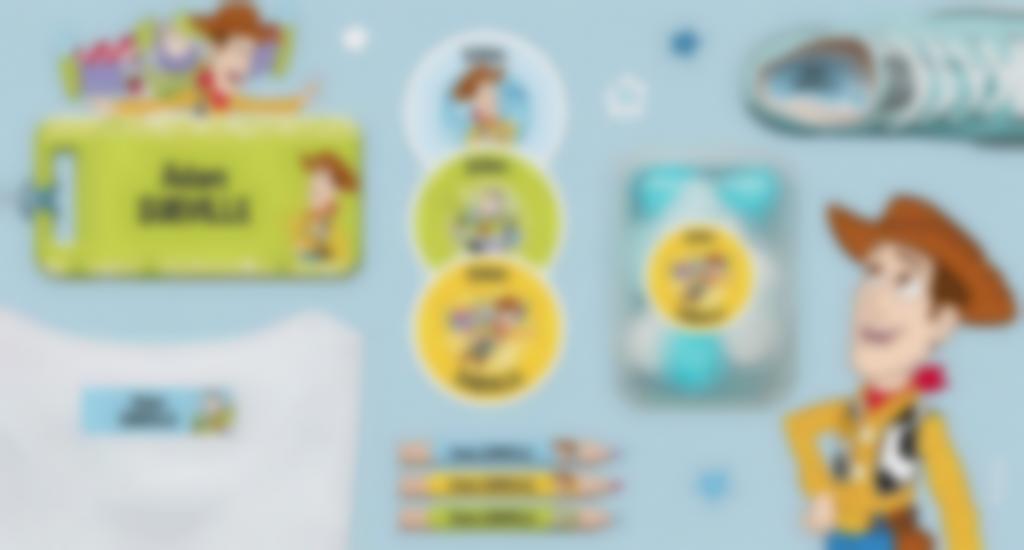 Toutes nos formats d'étiquettes à l'effigie de Toy Story