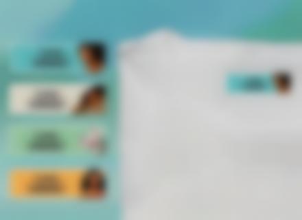Une tiquette thermocollante Vaiana sur un t-shirt