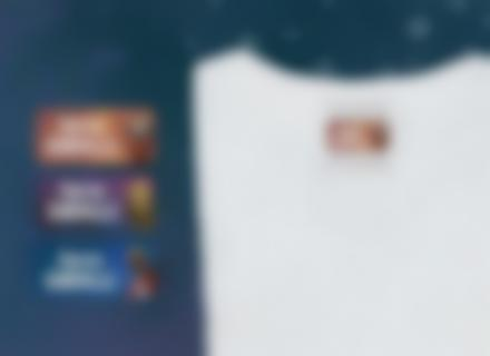 Des étiquettes Gardiens de la Galaxie sur un t-schirt