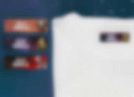 Une étiquette thermocollante Gardiens de la Galaxie sur un t-shirt