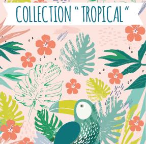 Notre nouvelle collection d'étiquettes «Tropical»