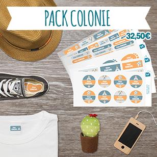 Un pack économique qui contient tous les formats pour identifier les vêtements et les affaires du trousseau.