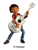 illustration Disney Coco pour étiquettes nominatives