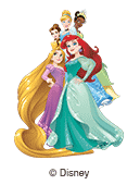 illustration les princesses Disney pour étiquettes nominatives